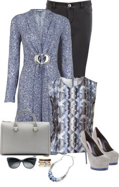 """""""Blue & Grey"""" by sherry7411 on Polyvore"""