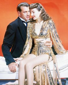 Gary Cooper & Barbara Stanwyck in Ball of Fire (1941)