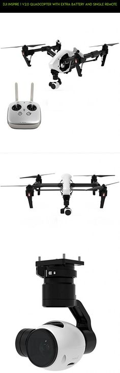 DJI Inspire 1 V2.0 Quadcopter With Extra Battery and Single Remote #camera #drone #technology #2 #plans #gps #products #dji #kit #fpv #shopping #tech #racing #parts #gadgets #inspire