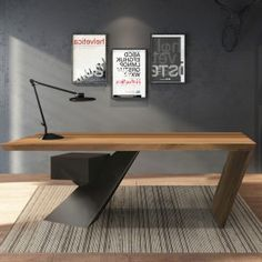 Furniture, Home Furniture, Furniture Bed, Modern Furniture, Living Room Furniture - Homary.com Wood Office Desk, Modern Home Office Furniture, Home Office Decor, Cool Furniture, Home Decor, Office Ideas, Furniture Design, Industrial Desk, Modern Industrial