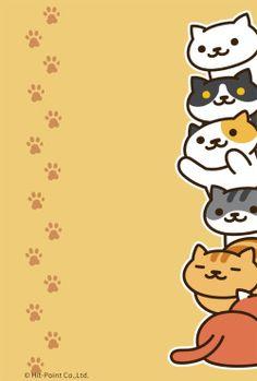 Wallpaper in Neko Atsume Neko Atsume Wallpaper, Cat Wallpaper, Kawaii Wallpaper, Pattern Wallpaper, Animal Wallpaper, Chibi Cat, Cat Background, Cat Drawing, Moon Art