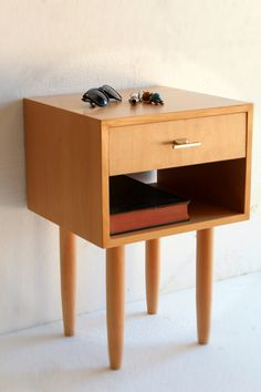 Nightstand/ Bedside Table/ Mid Century/ Scandinavian Design/ Custom made