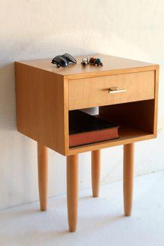 Nightstand/ Bedside Table/ Mid Century/ Scandinavian Design/ Custom made