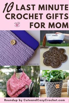Free Mother's Day crochet patterns that are quick and easy. Make any of these patterns fast in a few hours or weekend. Crochet Teacher Gifts, Crochet Gifts, Free Crochet, Crochet Cozy, Perfect Gift For Mom, Gifts For Kids, Knitting Projects, Crochet Projects, Crochet Blogs