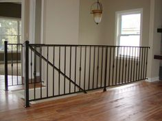 Custom Interior Iron Railing Indoor Stair Metal Railings Banisters