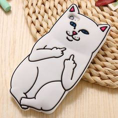 3D Go Away Cat Silcone IPhone Case - iPHone 5/5S/5G
