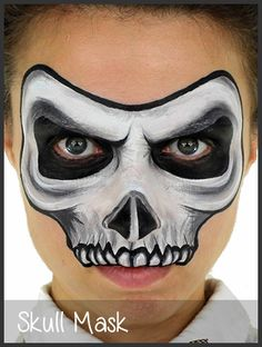 Skull Mask Face Painting.