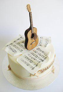 Résultats de recherche d'images pour « guitar cake » Guitar Birthday Cakes, Guitar Cake, Music Themed Cakes, Music Cakes, Cupcake Cookies, Cupcakes, Specialty Cakes, Christmas Tree Toppers, Cakes And More