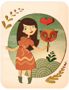 Illustrations - 1 by Marianne Vincent, via Behance Heart Art, Children's Book Illustration, Bellisima, Childrens Books, Illustrators, Disney Characters, Fictional Characters, Artsy, 1