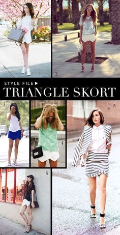 Styling the Triangle Skort...new fashion trend  www.glamorousobsessions.com
