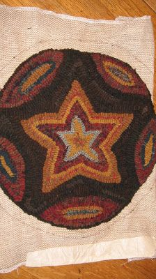 Country Freckles: star chair pad