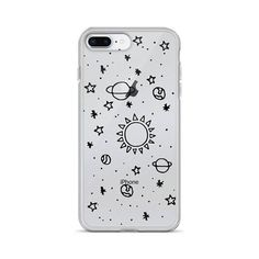 Planets Hand Drawn Clear iPhone Cases Transparent Tumblr