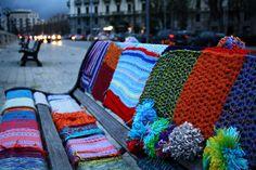 #guerrilla #knitting in #bari
