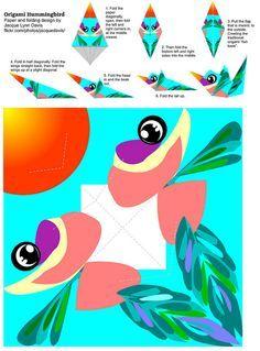 Origami Hummingbird paper and instructions | Flickr – Condivisione di foto!