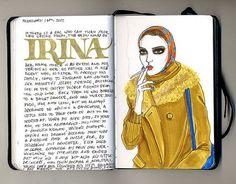 ARt by Fernanda Guedes http://fernandaguedes.blogspot.com/ notebook chronicles