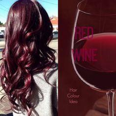 Red Wine Hair Colour #redhair #burgundyhair #haircolour