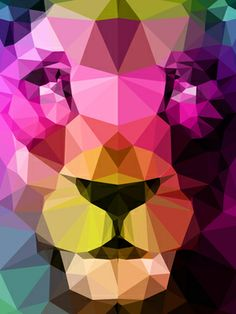 """Saatchi Art Artist Three of the  Possessed; New Media, """"Wild Neon Lion"""" #art #OneofMyFaves"""