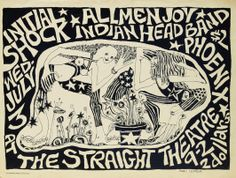 Straight Theatre Concert Poster (1968)