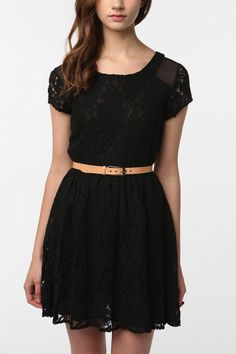 Black lace Urban Outfitters dress.