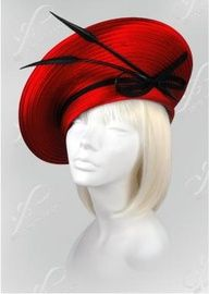 Feathered Church Hats - Church Hats Collection - Co. Church Suits And Hats, Church Hats, Fascinator Hats, Fascinators, Headpieces, Vestidos Pin Up, Elsa Schiaparelli, Pierre Balmain, Red Hat Society