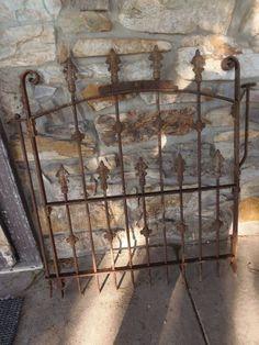 Antique Cast Iron Gate Cemetery Gate Garden Gate Yard Art #philadelphia