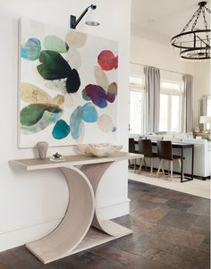 Delightful family home in Texas with a serene color palette Transitional Style, Oversized Wall Art, Kids Room Furniture, Cedar Creek, Texas, Interior Decorating, Interior Design, Decorating Ideas, Abstract