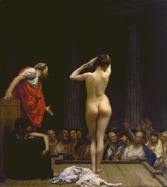 A Roman Slave Market by Jean Léon Gérome (c.1884)
