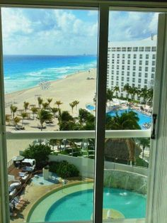 Make this view a reality. Cancun Resorts, Best Resorts, What Do You See, Through The Window, Beautiful Hotels, Caribbean, Mexico, Windows, History