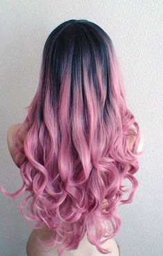 💞 Keep up with the cutest hair trends, color and how to look cute everyday! We are loving easy braids, loose curls, balayage blonde hair, and messy buns! Want to mix up your hair styles? Scroll on for cute hair ideas! Bold Hair Color, Hair Colours, Funky Hair Colors, Pastel Colours, Pink Wig, Dyed Hair Pink, Ombre Wigs, Ombre Hair Dye, Pastel Pink Ombre Hair