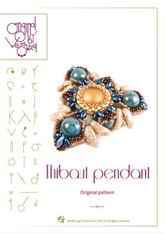 pendant tutorial / pattern Thibaut pendant with bugle beads – PDF instruction for personal use only by beadsbyvezsuzsi on Etsy