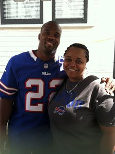 Fred Jackson and I at MY house
