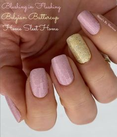 Blushing in Flushing is a soft glittery pink. Combined here with Belgian Buttercup (soft yellow) and Home Sleet Home over the yellow to add some more soft glitter notes. #manicure #nails #springstyle #springnails #pinknail #colorstreet Luv Nails, Pretty Nails, Nail Color Combos, Nail Colors, Mani Pedi, Manicure, Nail Polish Strips, Color Street Nails, Nail Art Designs