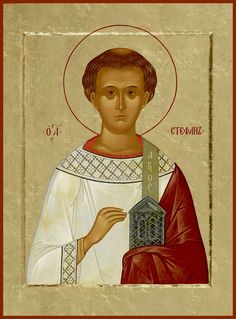 Traditional Panel Orthodox icon of St. We build traditional panel heirloom quality reproduction icons. Each icon comes with hanging hardware. Saint Stephen, Russian Icons, Russian Orthodox, Praying To God, Portraits, Orthodox Icons, Decoration, Saints, Artwork