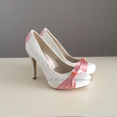 Pretty in pink custom heels