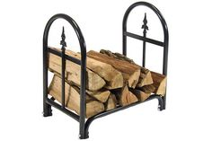 """24"""" Decorative Firewood Log Rack $54.95  24"""" log rack overall dimensions: 24"""" L x 14"""" D x 24"""" H. Weighs 11 lbs. 24"""" cover dimensions (sold separately, or included with 24"""" combo): 24"""" L x 19"""" D x 19"""" H, weighs 1 lb."""