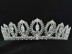 Wedding Pageant Flower Tiara Crown Hair Jewelry Zircon Rhinestone Crystal 266RJK
