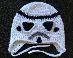 Hello! My son Jax who is 4 is a huge Star Wars fan. I have been searching for a Storm Trooper Hat pattern for a while. I decided to make a pattern of my own.