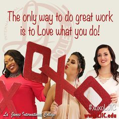 Have you ever noticed how awesome the finished product is when it's something you are excited about &/or love to do? Do what you love EVERY DAY! #Motivation #xoxoLJIC www.LJIC.edu Monday Motivation