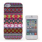 Purple Stripe Ultra Thin Clear Pattern Protective Hard Case for iPhone 4/4S