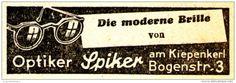 Original-Werbung/Anzeige 1939 - OPTIKER SPIEKER - MÜNSTER - ca. 60 x 20 mm