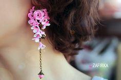 Серьги с цветами