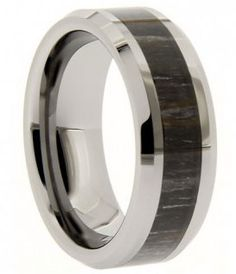 I love this mature looking camouflage Tungsten carbide ring.