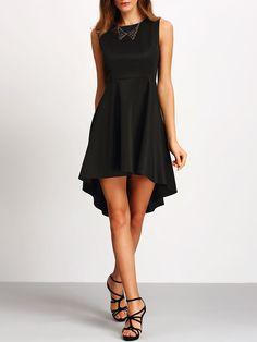 Kleid ärmellos asymmetrische - schwarz