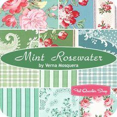Mint Rosewater Fat Quarter BundleVerna Mosquera for Free Spirit Fabrics - Fat Quarter Bundles | Fat Quarter Shop