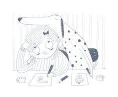 hallo heute Illustration Inspiration, Dog Illustration, Cute Doodles, All Dogs, Illustrations Posters, Childrens Books, Dog Cat, Character Design, Sketches