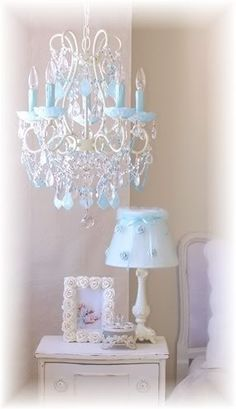 I found LS-1326 ? 5-Light Beaded Chandelier with Opal Aqua-Blue Crystals by on Wish, check it out!