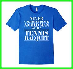 Mens Never Underestimate An Old Man With A Tennis Racquet 2XL Royal Blue - Sports shirts (*Amazon Partner-Link)