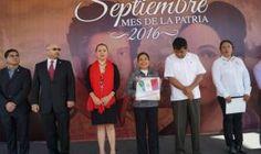 Encabeza SEDESOH ceremonia de izamiento de la Bandera Nacional