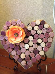 Wine cork heart by AshleyColeDesigns on Etsy