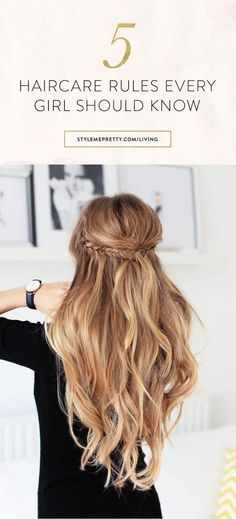 Do you know these haircare rules? via @stylemepretty